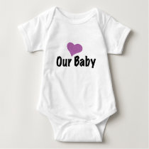 our baby - heart baby bodysuit