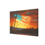 Our Banner in the Sky by Frederic Edwin Church Canvas Prints