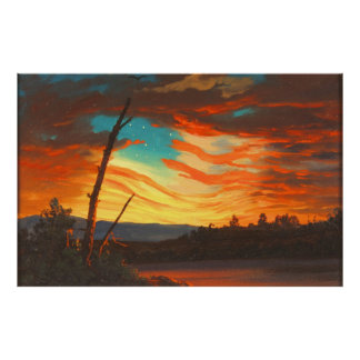 Our Banner in the Sky by Frederic Edwin Church Poster