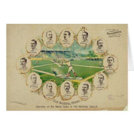 Our Baseball Heroes 12 National League Captains Card