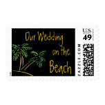 Our Beach Wedding Palm Trees Postage