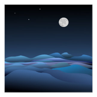 Our Beautiful Moon Poster