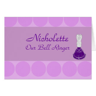 """""""Our Bell Ringer"""" - w/ Dots in Shades of Purple Cards"""