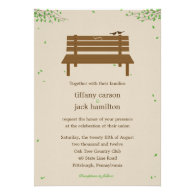 Our Bench Wedding Invitation