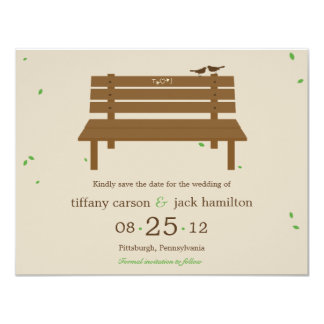 Our Bench Wedding Save The Date Announcement