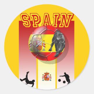 Our Best selling Spanish Soccer futbol artwork Classic Round Sticker