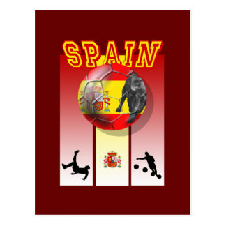 Our Best selling Spanish Soccer futbol artwork Postcard