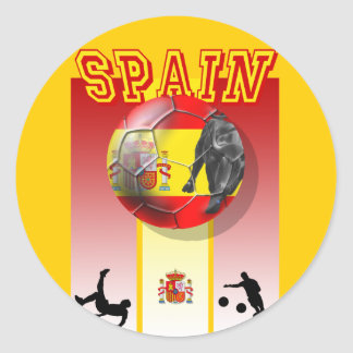Our Best selling Spanish Soccer futbol artwork Classic Round Sticker