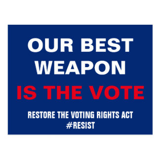 Our Best Weapon is the Vote Resist Postcard