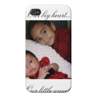Our big heart, our little angels. iPhone 4 cover