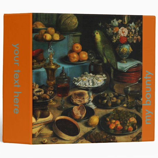 Our bounty.. oil painting, still life binders