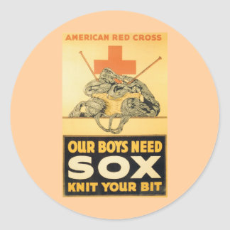 Our Boys Need Sox Classic Round Sticker