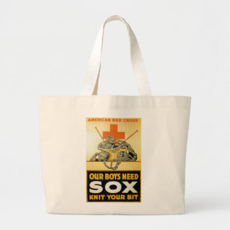 Our Boys Need Sox ~ Knit Your Bit Jumbo Tote Bag