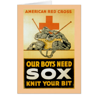 Our Boys Need Sox ~ Knit Your Bit Card