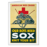 Our boys need sox - knit your bit card