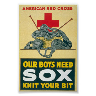 Our boys need sox - knit your bit poster
