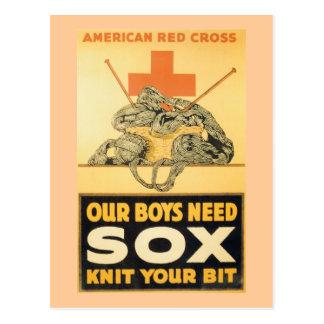 Our Boys Need Sox Postcard