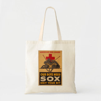 Our boys need sox Red Cross World War 2 Budget Tote Bag