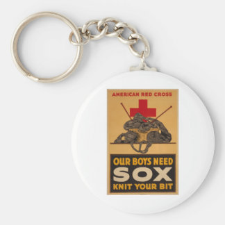 Our boys need sox Red Cross World War 2 Keychain