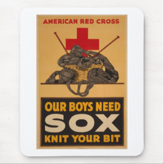 Our boys need sox Red Cross World War 2 Mouse Pad
