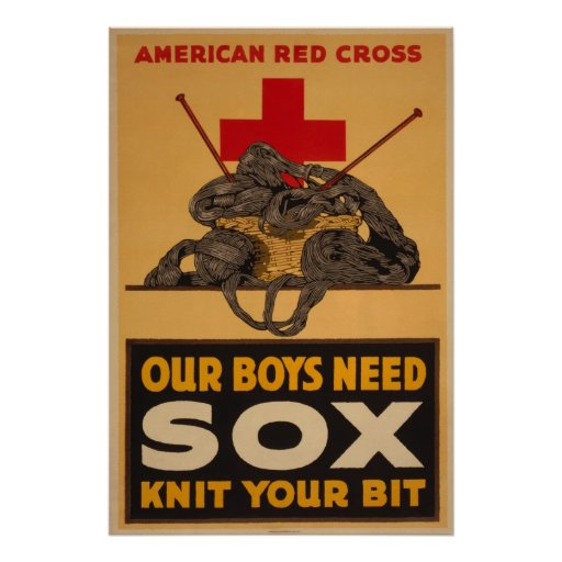 Our boys need sox Red Cross World War 2 Posters