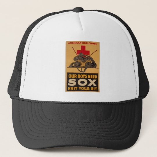 Our boys need sox Red Cross World War 2 Trucker Hat
