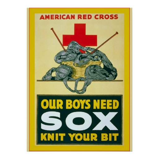 Our Boys Need Sox ~ Vintage World War 1 Posters