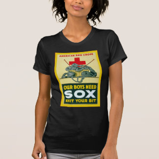 Our Boys Need Sox ~ Vintage World War 1 T-Shirt