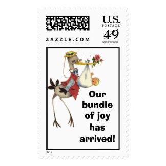 Our bundle of joy has arrived! postage stamp