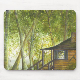 """""""Our Cabin"""" by Brigid O'Neill Hovey Mouse Pad"""