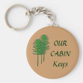 Our Cabin Keys Basic Round Button Keychain