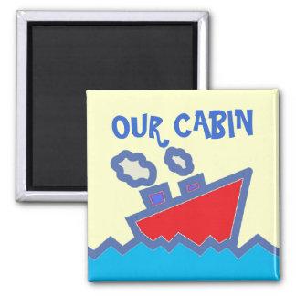 Our Cabin Sq. Stateroom Door Marker Magnet