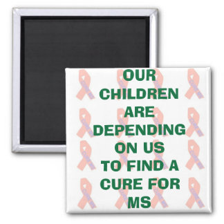 OUR CHILDREN ARE DEPENDING ON US... 2 INCH SQUARE MAGNET