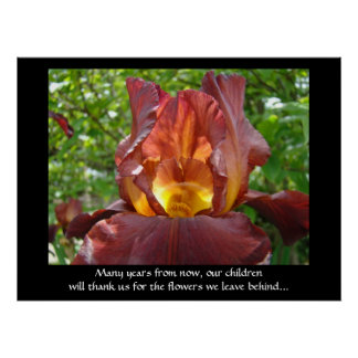 Our Children will Thank Us for the Flowers art Posters
