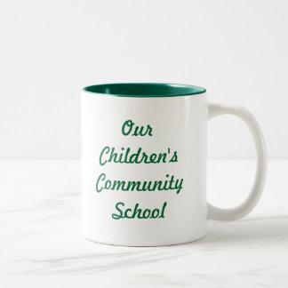 Our Children's Community School Two Toned Mug
