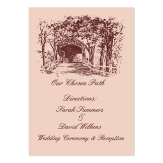 Our Chosen Path Direction Cards Business Card Templates