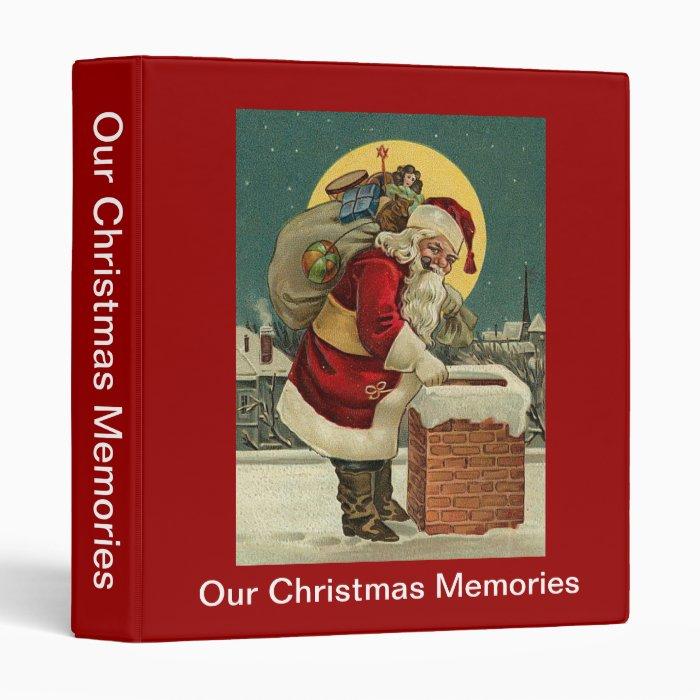 Our Christmas Memories Vintage Santa Toys Binder