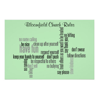 Our Church Rules Poster
