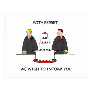 Our civil union ceremony is cancelled. postcard