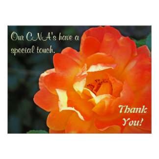 Our CNA s special touch Thank you poster art print