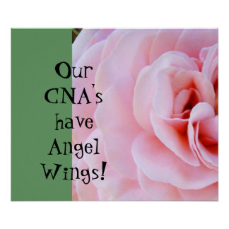 Our CNA's have Angel Wings! posters Nursing prints