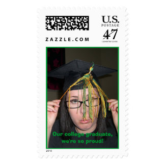Our college graduate, we're so proud! postage