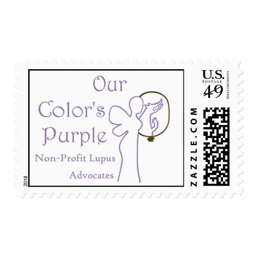 Our Color's Purple Postage Stamp