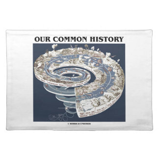 Our Common History (Earth History Timeline Spiral) Cloth Place Mat