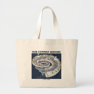 Our Common History (Earth History Timeline Spiral) Large Tote Bag