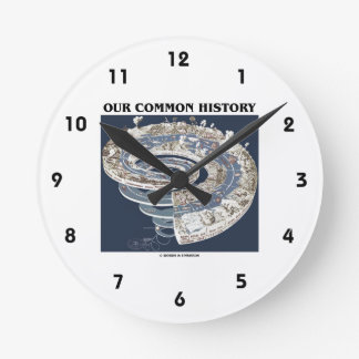 Our Common History (Earth History Timeline Spiral) Round Wallclock