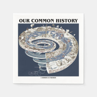 Our Common History (Earth History Timeline Spiral) Standard Cocktail Napkin