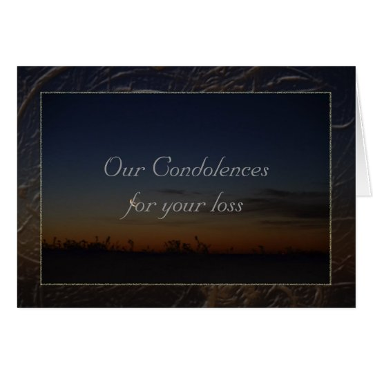 Our condolences card