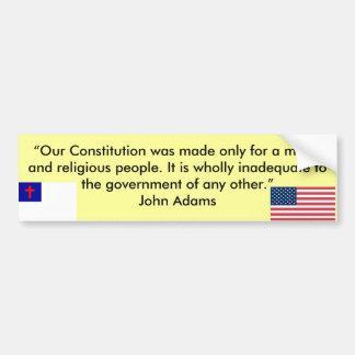 """Our Constitution"" Bumper Sticker"