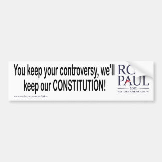 Our Constitution Car Bumper Sticker